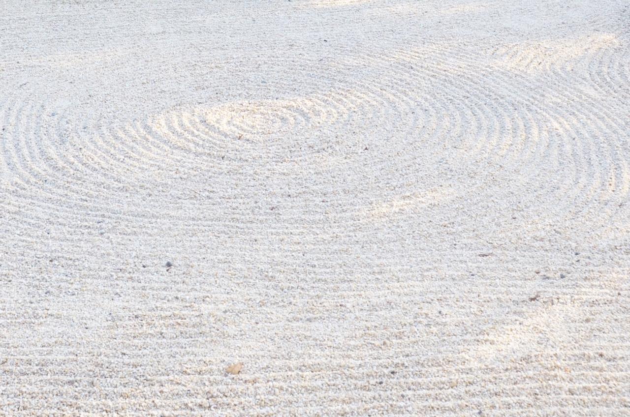 枯山水で使用する砂利の種類は?