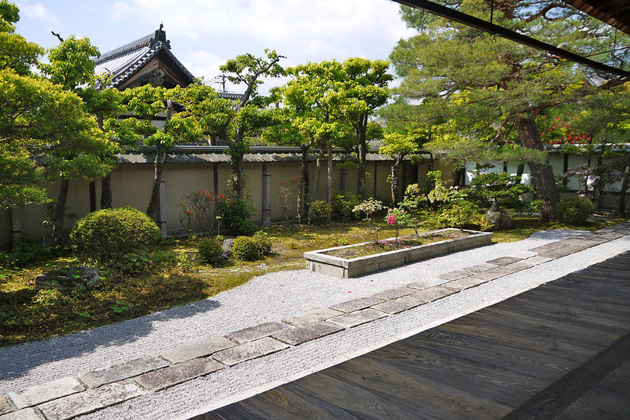 妙心寺大心院庭園の枯山水
